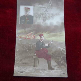 carte postale WWI militaria français