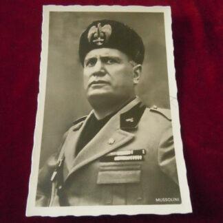 carte postale Mussolini - militaria