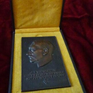 plaque Hitler - militaria allemand