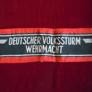 brassard Volkssturm militaria allemand