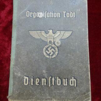 dienstbuch Todt - militaria allemand