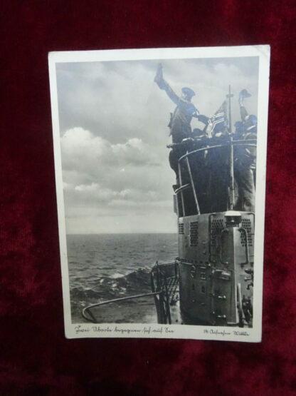 carte postale U-Boot - militaria allemand